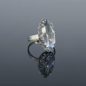 Marquise Aquamarine White Gold Ring