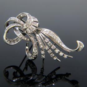French Retro Diamonds Brooch