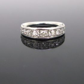 Old Mine Diamond Half Eternity Ring