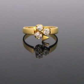 Late Victorian Shamrock Diamonds Ring