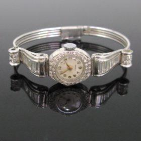 Art Deco Diamonds Manual Wind Wristwatch
