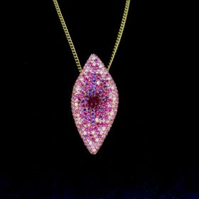 Contemporary Multigems Pave Pendant