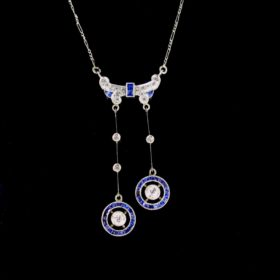 Belle Epoque Sapphires Diamonds Necklace
