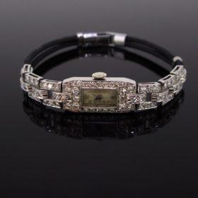 Art Deco Diamonds Lady Wrist Watch