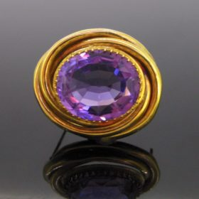 Antique Victorian Amethyst Brooch