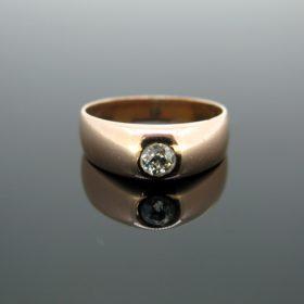 Old European cut Diamond Gypsy Ring