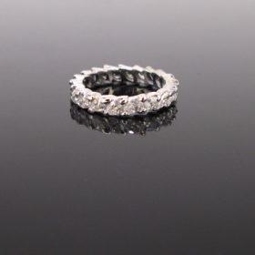 Vintage Eternity Marquise Cut Diamonds Ring