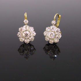 Edwardian Diamonds Dormeuses Earrings