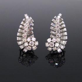 Art Deco 6ct Diamonds Earrings Clips