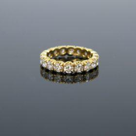 Vintage Eternity Brilliant Cut Diamonds Ring