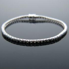 3.84ct Black Diamonds Tennis Bracelet