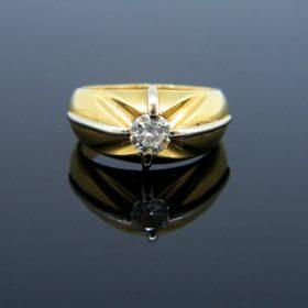French Retro Diamond Gypsy Ring,