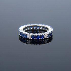 Sapphire and Diamonds Eternity Ring