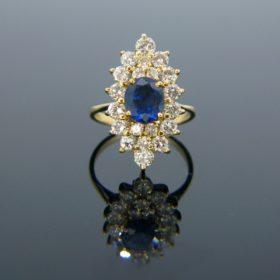 Sapphire Diamonds Marquise Ring