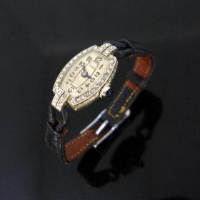 Art Deco Rose cut Diamonds Wristwatch