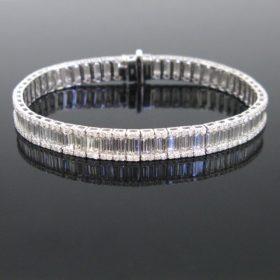 10.06ct Diamonds Line Tennis Bracelet