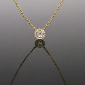 Diamonds Cluster Pendant Necklace