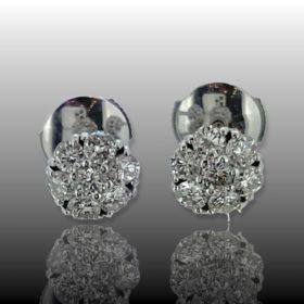 Flower Diamonds White Gold Studs Earrings