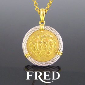 Fred Paris Force 10 Gemini Zodiac Pendant,