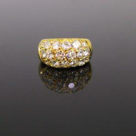 Bombe 2ct Diamonds Pave Ring