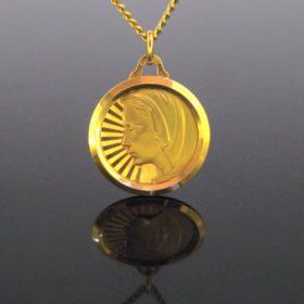 Vintage Retro Religious Medal Pendant