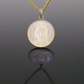 Antique Mother of Pearl Medal Pendant