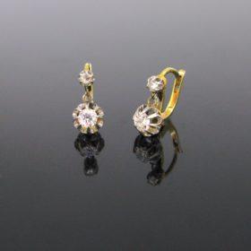 Antique Diamonds Dormeuses Earrings