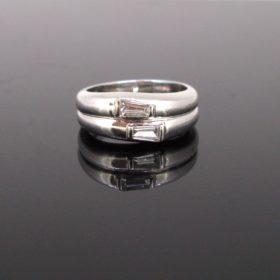 Modern Tappers cut Diamonds Ring