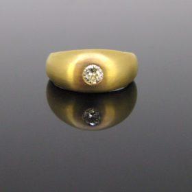 Vintage Brilliant cut Diamond Gypsy Ring