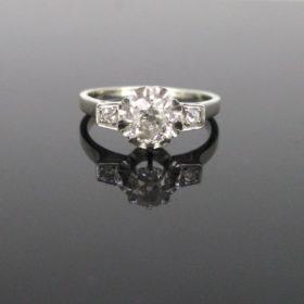 Art Deco 0.90ct Solitaire Diamond Ring