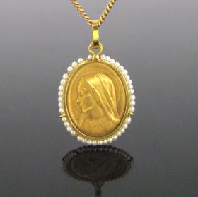 Art Nouveau Religious Medal by Dropsy