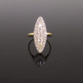 Antique Edwardian Diamonds Marquise Ring