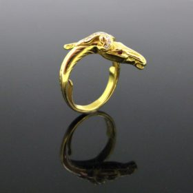 Vintage Head's horse Diamonds ring
