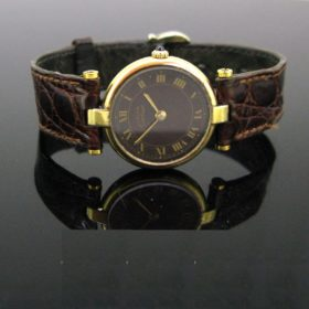 Cartier Vintage Ladies Silver Gilded Wristwatch