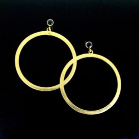 Vintage Yellow Gold Circle Earrings